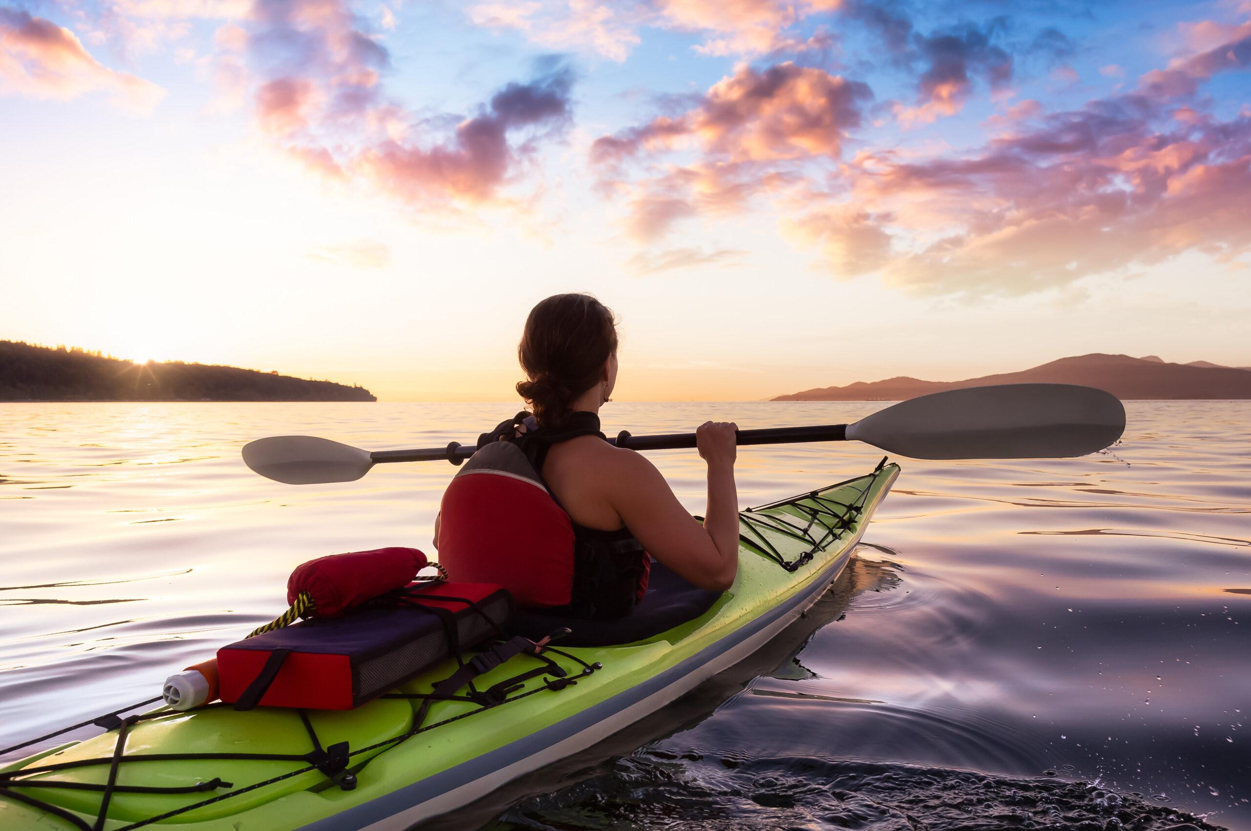 Sunset Kayak Tour at Jericho Beach