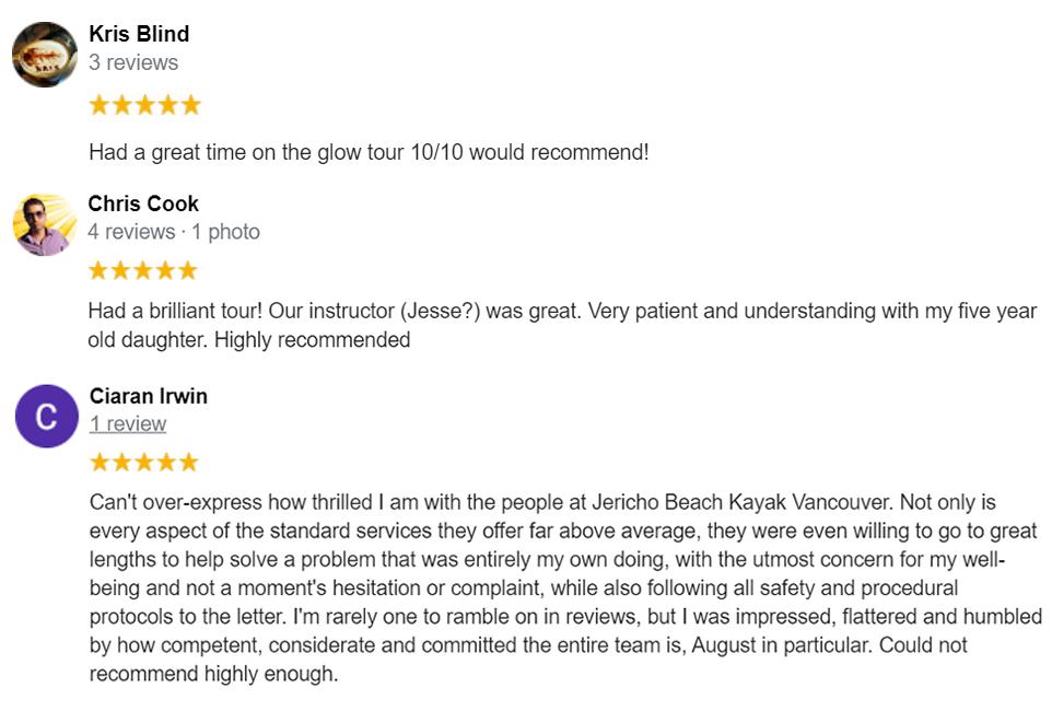 Glow in the Dark Google Reviews